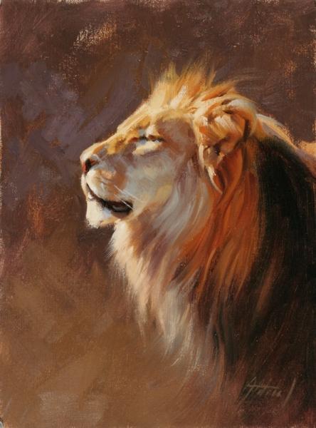 Quot Lion Portrait Quot Originals All Artwork Edward Aldrich